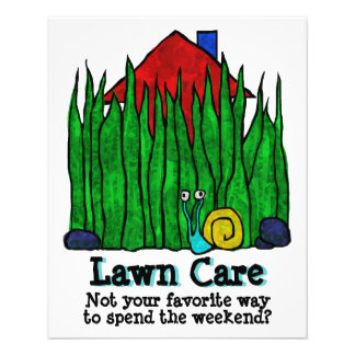 Lawn Care. Mow Grass. Landscaper. Promotional Flyer
