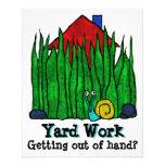 Lawn Care. Mow Grass. Landscaper. Promotional Flyers
