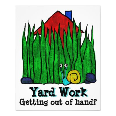 landscaping lawn yard gardening care personalized flyer zazzle com