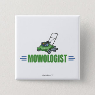 Lawn Care Mowing Grass Lawns Landscaping Yards Pinback Button