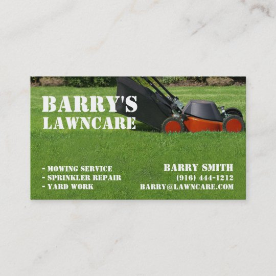 Lawn care or landscaping business card zazzle lawn care or landscaping business card colourmoves