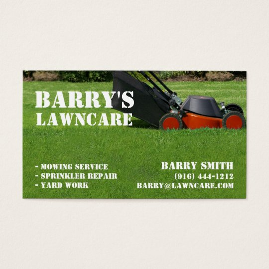 Lawn Care Or Landscaping Business Card Zazzle Com