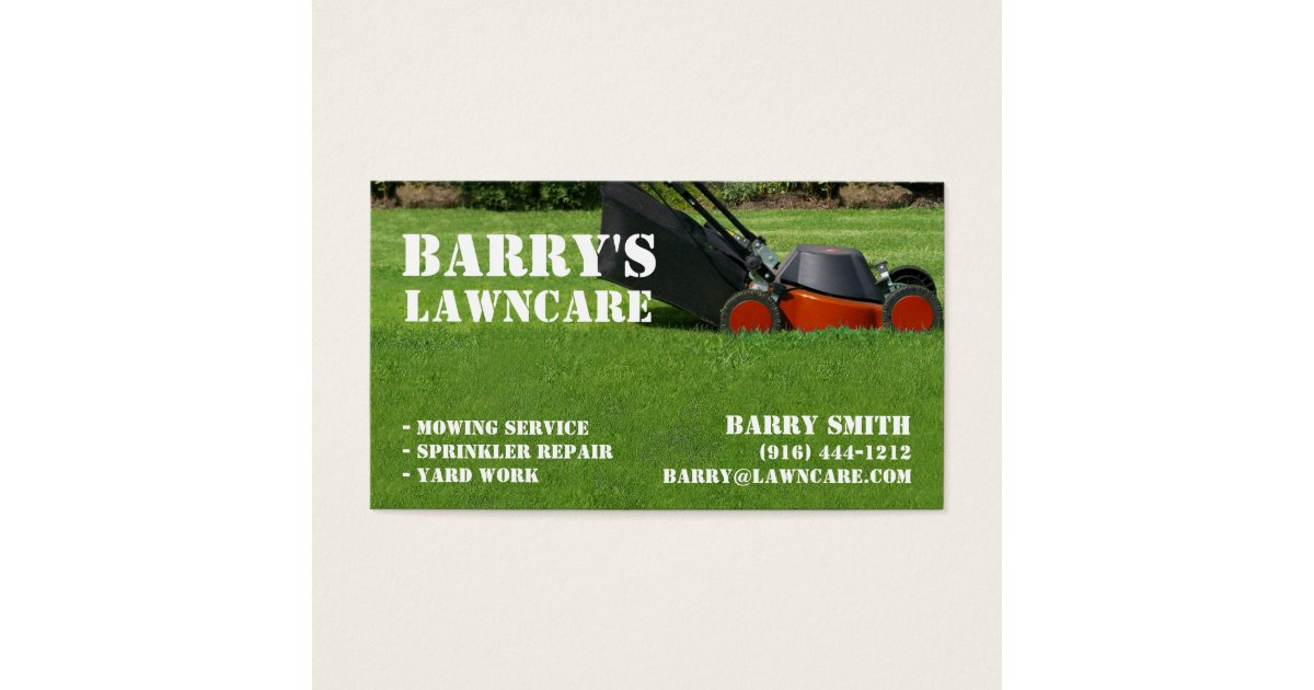 Lawn Care or Landscaping business card | Zazzle.com