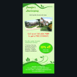 """Lawn Care Rack Card<br><div class=""""desc"""">While changing the writing on one side, the other side changes too… Please read the tips. If you own a lawn/landscaping business, then this unique rack card is perfect for you! Just simply change the texts to put you and your company&#39;s name, contacts, address... etc. Don't forget that you save...</div>"""
