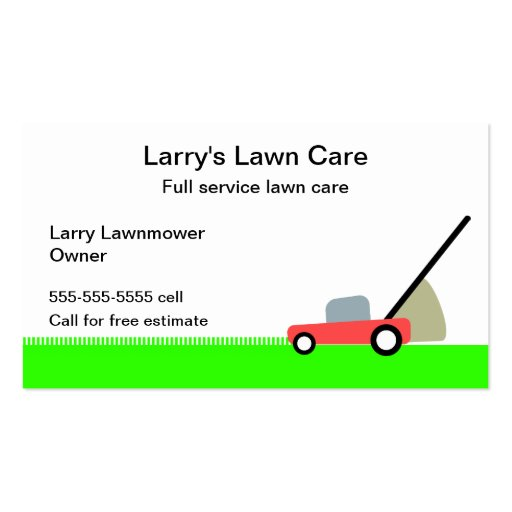 Lawn Care Service Double Sided Standard Business Cards