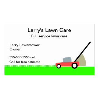 Lawn Care Service Double-Sided Standard Business Cards (Pack Of 100)