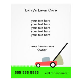 "Lawn Care Services 4.5"" X 5.6"" Flyer"