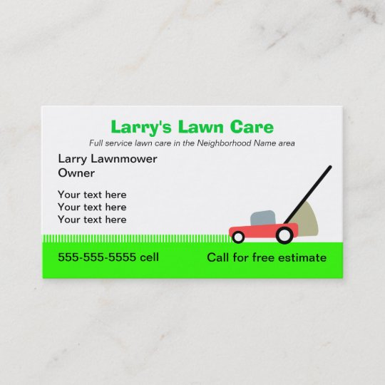 lawn care services business card - Lawn Service Business Cards