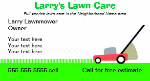 Lawn care business cards 600 lawn care business card templates lawn care services business card fbccfo Images