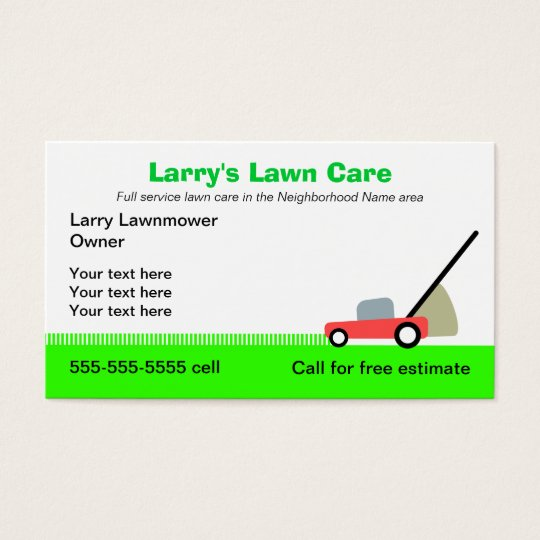 Lawn Care Services Business Card Zazzle Com