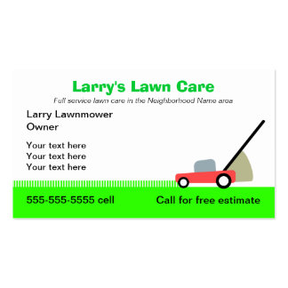 Lawn Care Services Double-Sided Standard Business Cards (Pack Of 100)