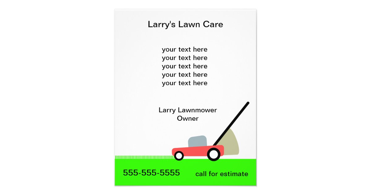good lawn mowing flyers