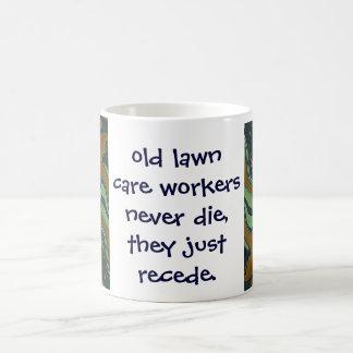 lawn care workers joke coffee mug
