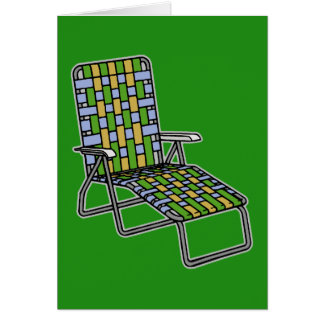 Lawn Chair Chaise Lounge Card