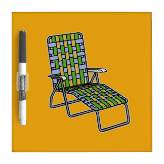 Lawn Chair Chaise Lounge Dry-Erase Board