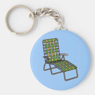 Lawn Chair Chaise Lounge Keychain