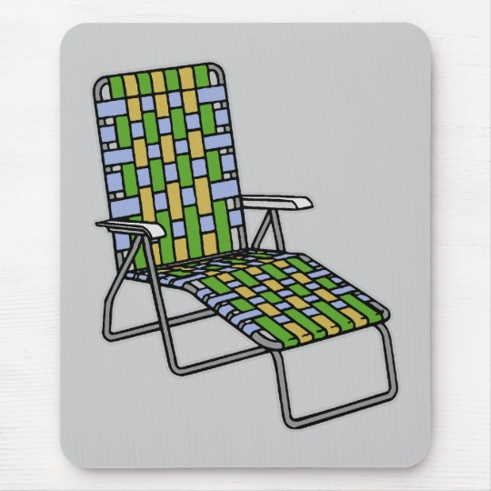 Lawn Chair Chaise Lounge Mouse Pad