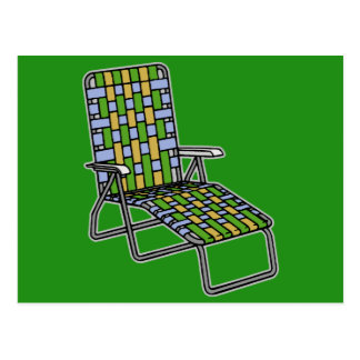 Lawn Chair Chaise Lounge Postcard