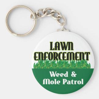 Lawn Enforcement Basic Round Button Keychain