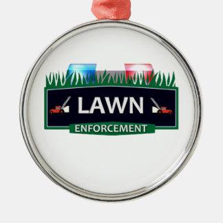 LAWN ENFORCEMENT METAL ORNAMENT