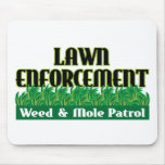 Lawn Enforcement Mouse Mat