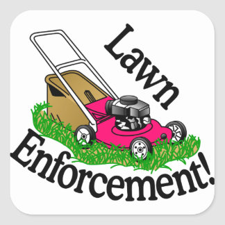 Lawn Enforcement Square Sticker