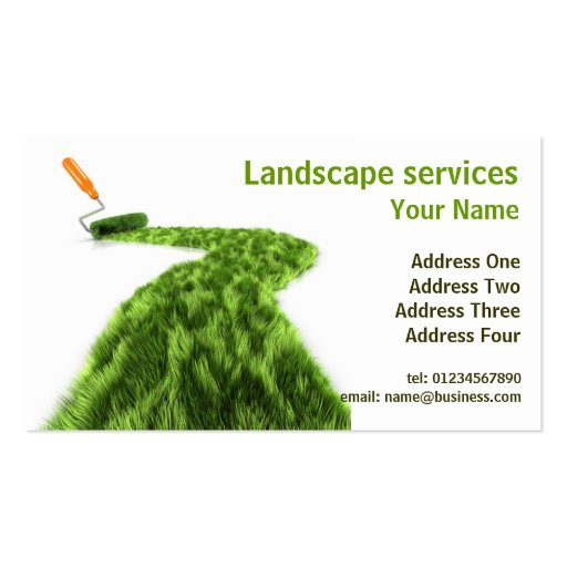 Lawn Garden Landscape Business Design Business Card