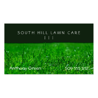 Lawn Grass Double-Sided Standard Business Cards (Pack Of 100)