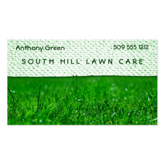 Lawn Grass Texture Look Double-Sided Standard Business Cards (Pack Of 100)