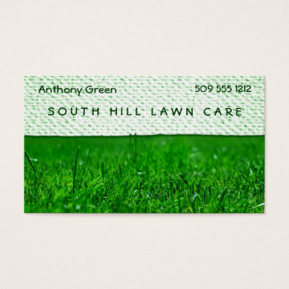 Lawn Grass Texture Look Business Card
