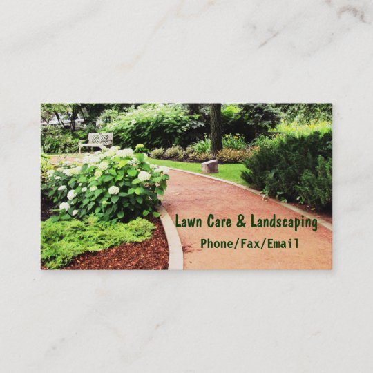 lawn landscaping business card - Landscaping Business Cards
