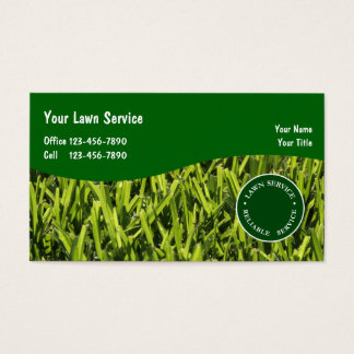 Lawn Landscaping Business Cards