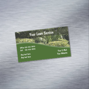 Commercial landscaping business cards templates zazzle lawn landscaping design business card magnet colourmoves