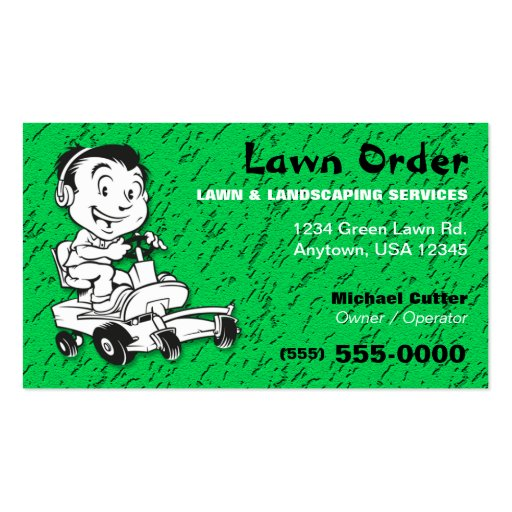 Lawn Landscaping Service Business Card