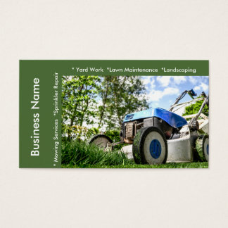 Lawn Maintenance and Services Business Card