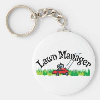 Lawn Mananger Basic Round Button Keychain