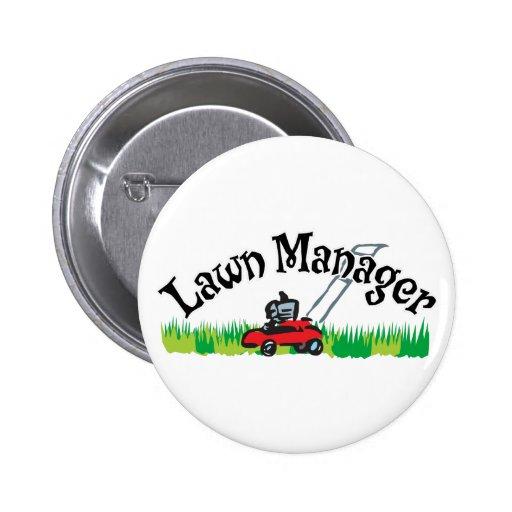 Lawn Mananger Pinback Buttons
