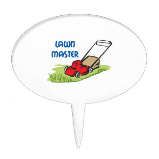 LAWN MASTER CAKE TOPPERS