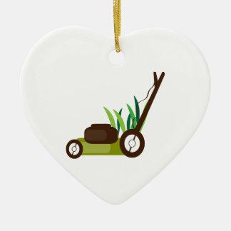 Lawn Mower Ceramic Ornament