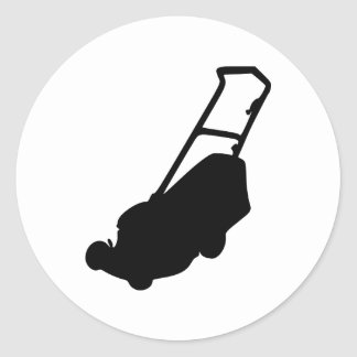 Lawn mower classic round sticker