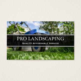 Lawn Mower Gardener / Landscaping Business Card