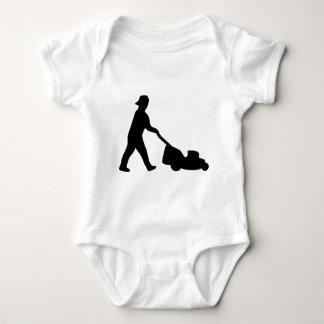 lawn mower icon baby bodysuit