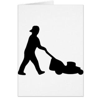 lawn mower icon card