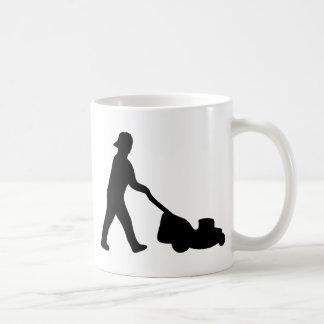 lawn mower icon coffee mug