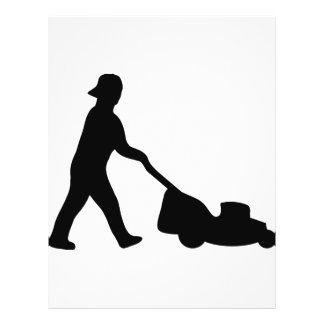 lawn mower icon flyer