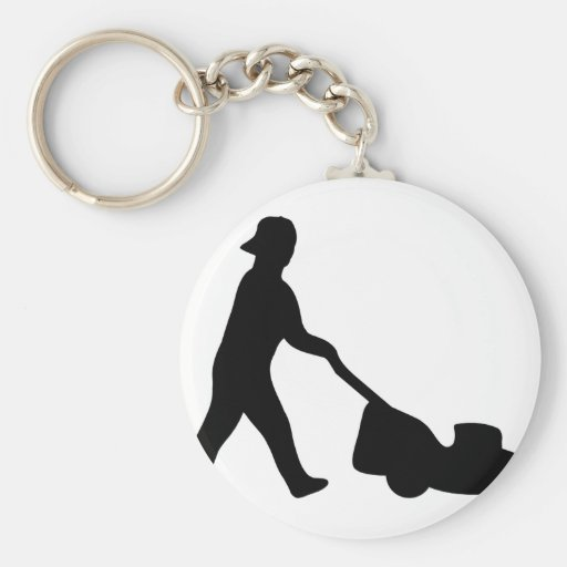 lawn mower icon key chains