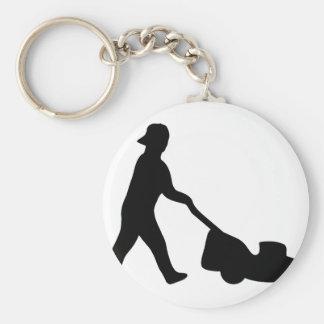 lawn mower icon keychain