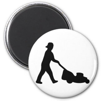 lawn mower icon magnet
