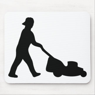 lawn mower icon mouse pad