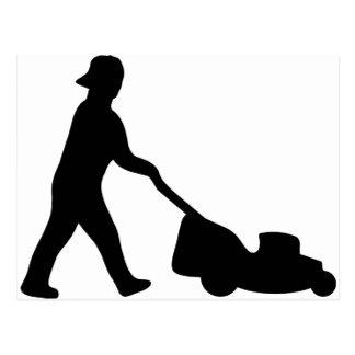 lawn mower icon postcard